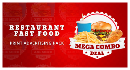 Fast Food Promotions Print Pack