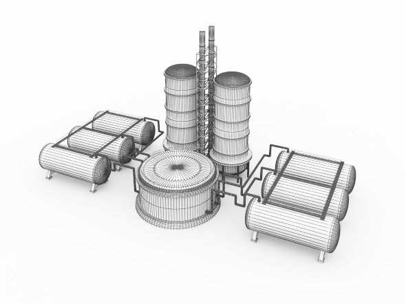Oil or Gas Refinery Factory with Oil Storage Tank