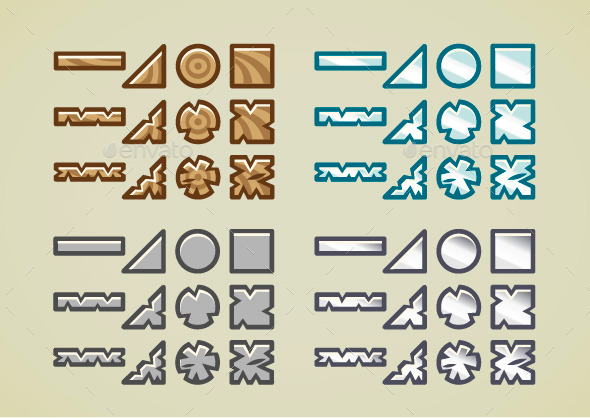 Blocks for Video Games - Objects Vectors