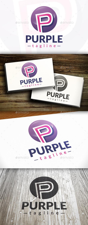 Purple P Letter Logo - Letters Logo Templates