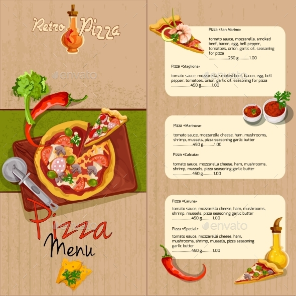 Pizza Menu - Food Objects
