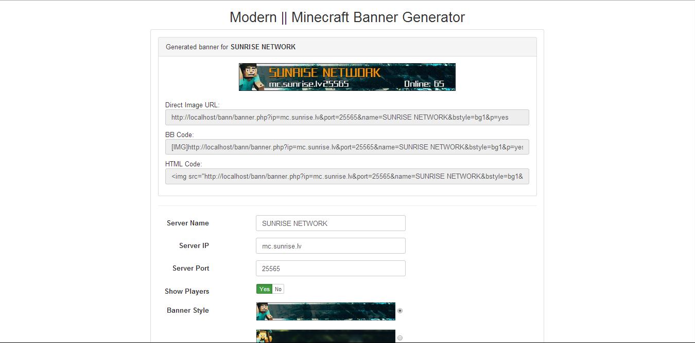modern minecraft banner generator by summer95 codecanyon
