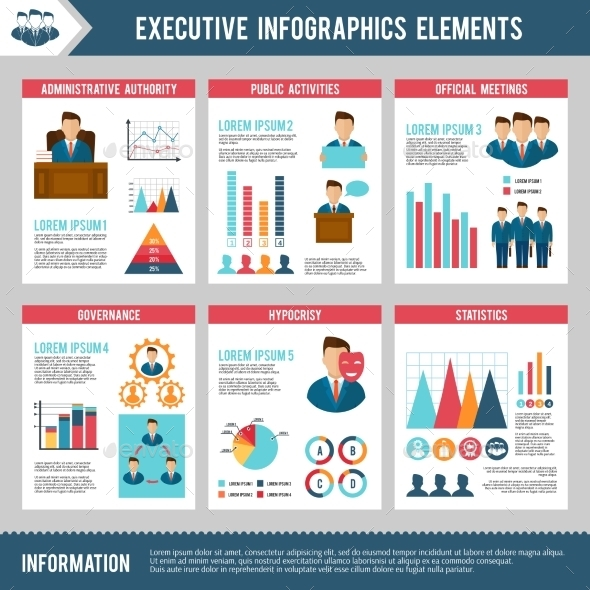 Executive Infographics Set - Business Conceptual