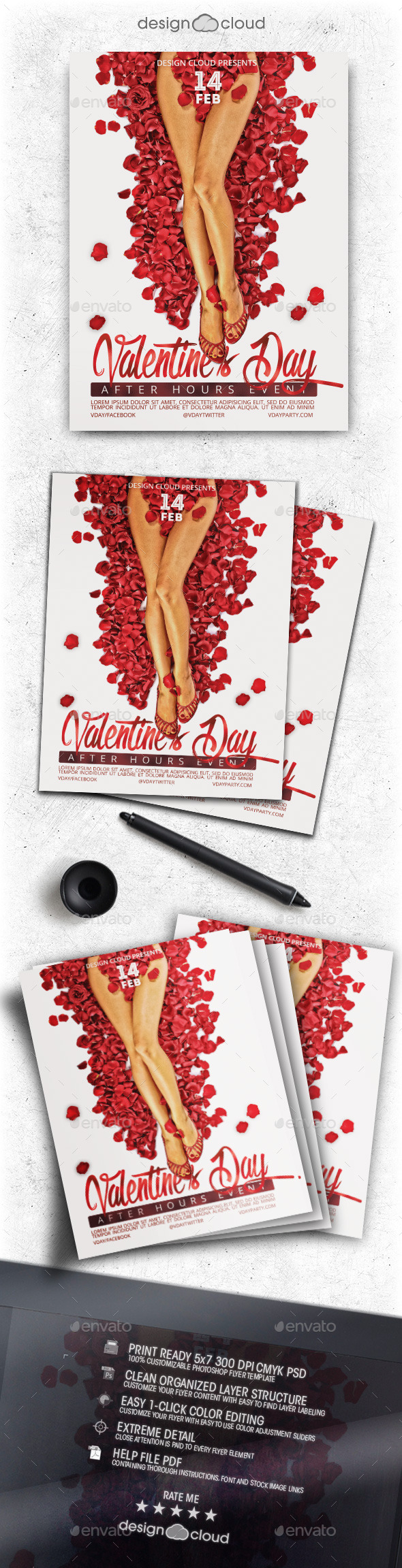 Valentine After Hours Event Flyer Template - Holidays Events