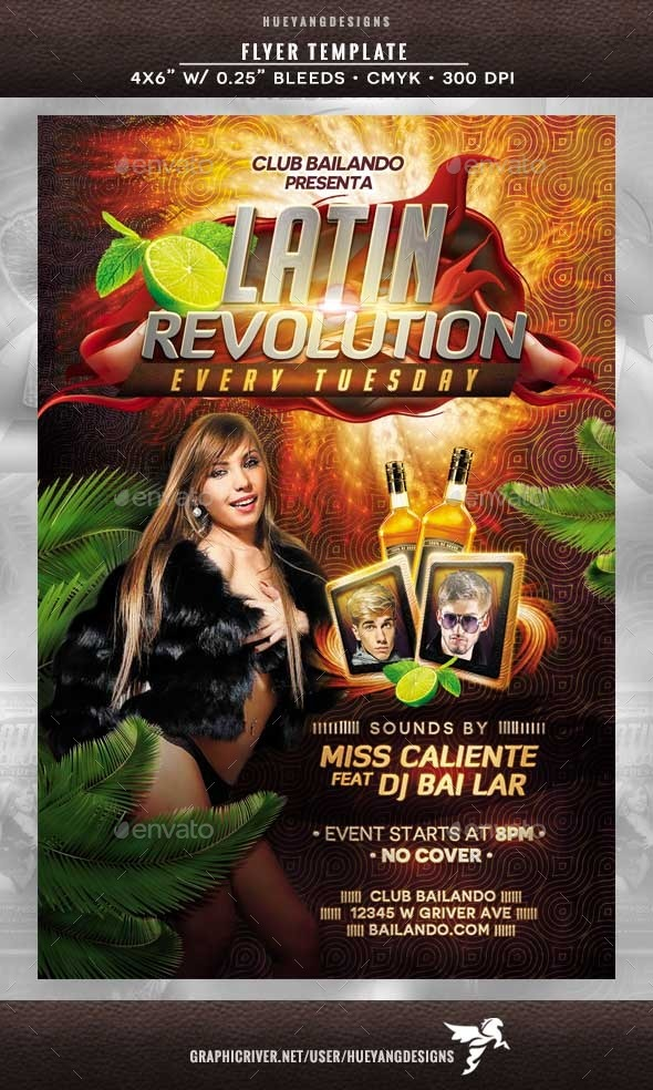 Latin Revolution Flyer - Clubs & Parties Events