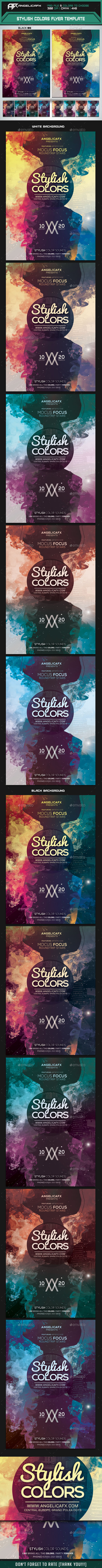 Stylish Colors Flyer Template - Print Templates