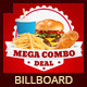 Restaurant Fast Food Signage Billboard - GraphicRiver Item for Sale