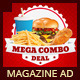 Restaurant Fast Food Menu Magazine Ad - GraphicRiver Item for Sale