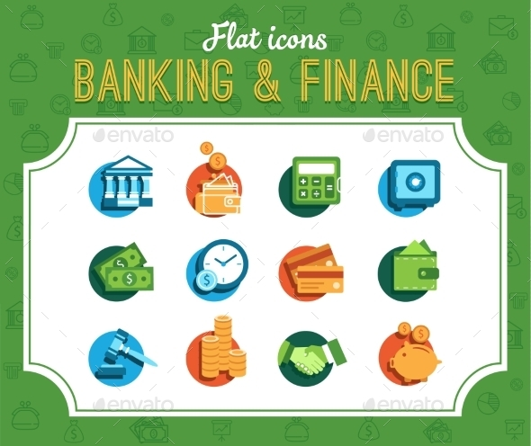 Banking Icons - Retail Commercial / Shopping