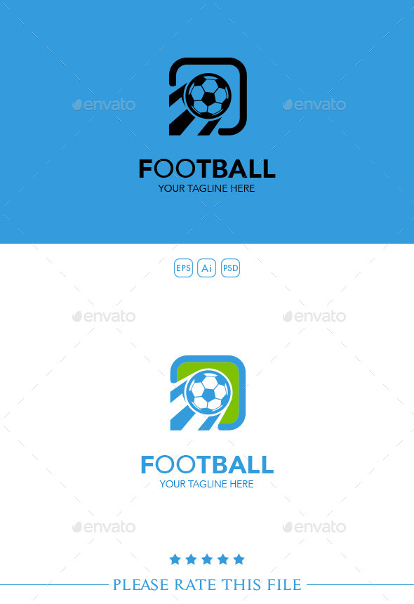 Football Logo - Vector Abstract