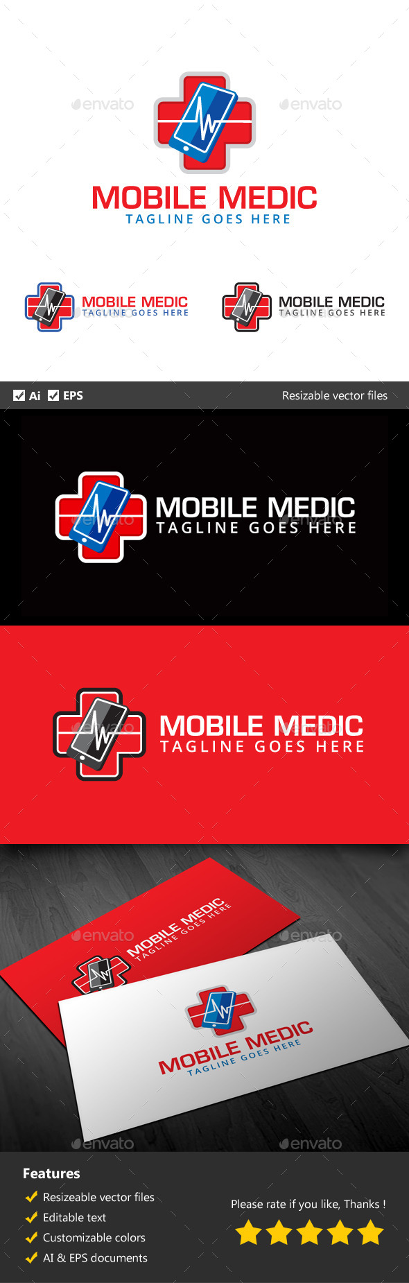 Mobile Medic - Objects Logo Templates