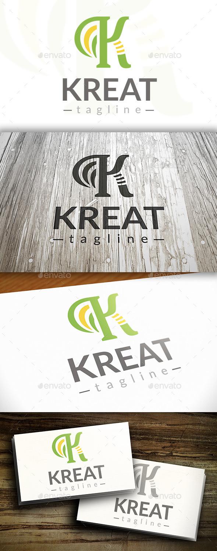 Creative K Letter Logo - Letters Logo Templates