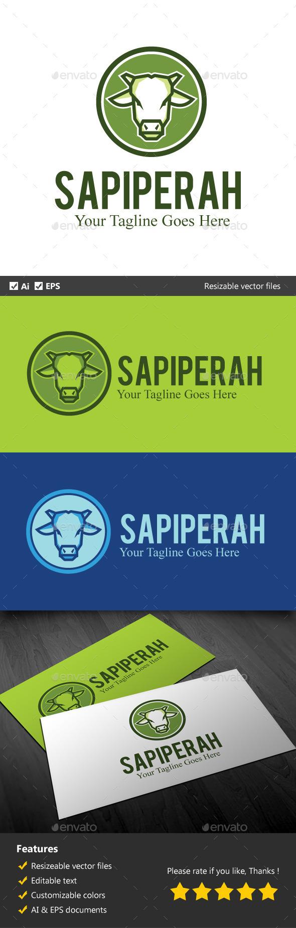 Sapi Perah - Animals Logo Templates