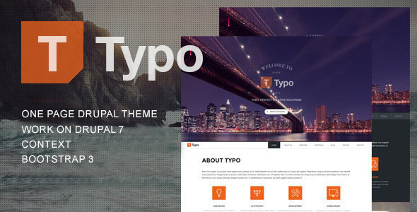 Typo - One Page Drupal Theme