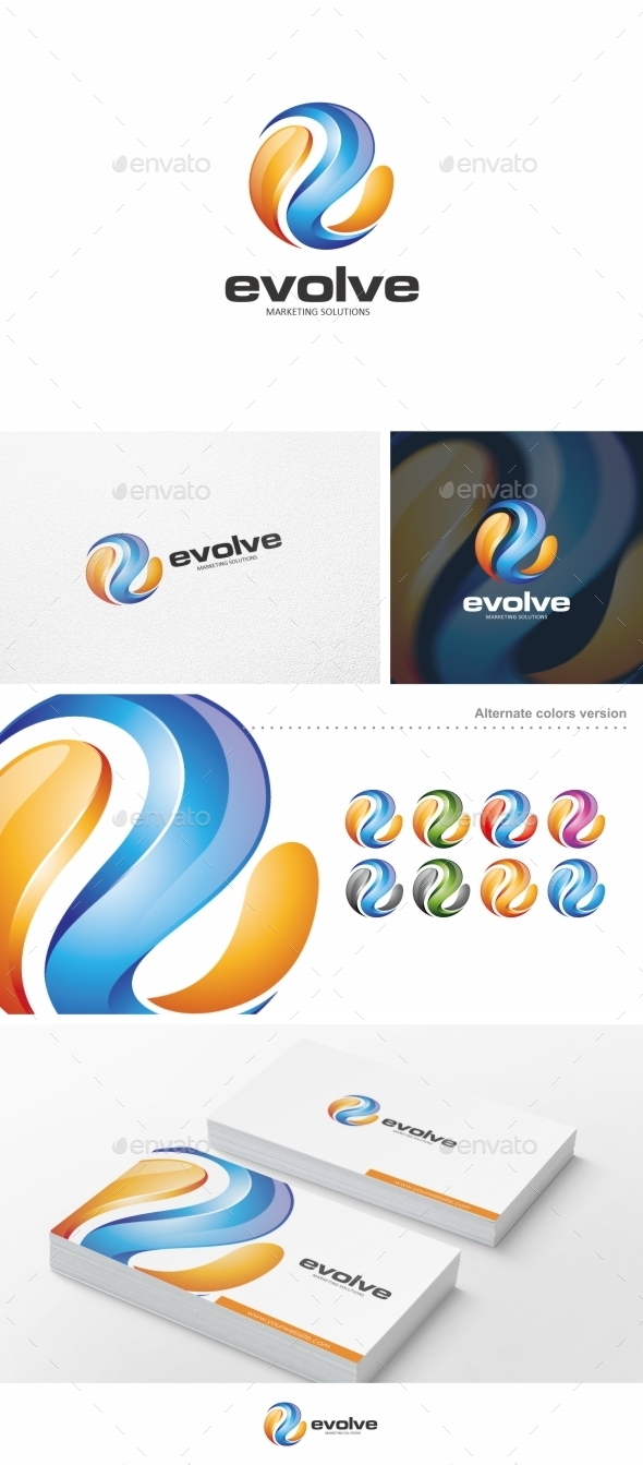 Evolve - Logo Template - Letters Logo Templates