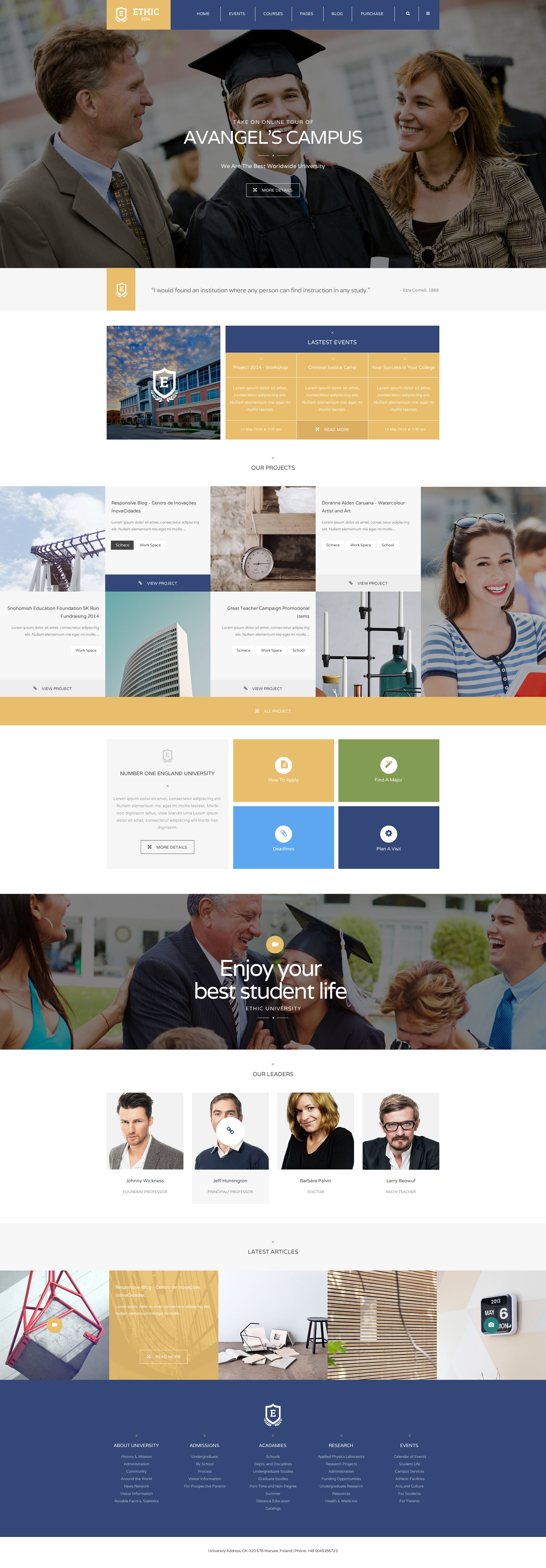 ETHIC - Education, Event and Course HTML Template by plazart ...