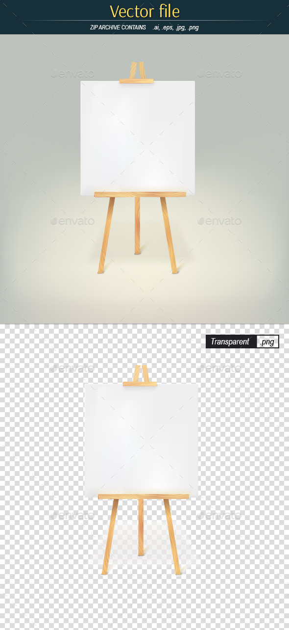 Wooden Tripod with White Sheet of Paper - Man-made Objects Objects