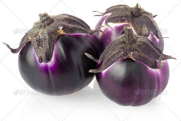 Aubergines - Stock Photo - Images