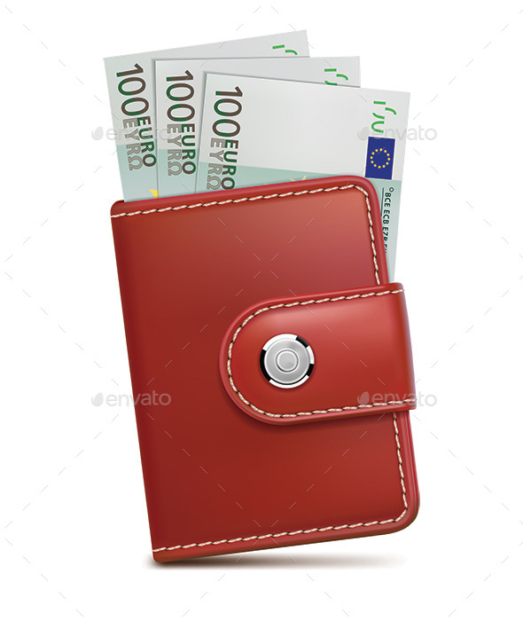 Wallet with Money - Man-made Objects Objects