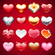 Vector Icons Hearts Set - GraphicRiver Item for Sale