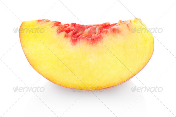 Peach slice  - Stock Photo - Images