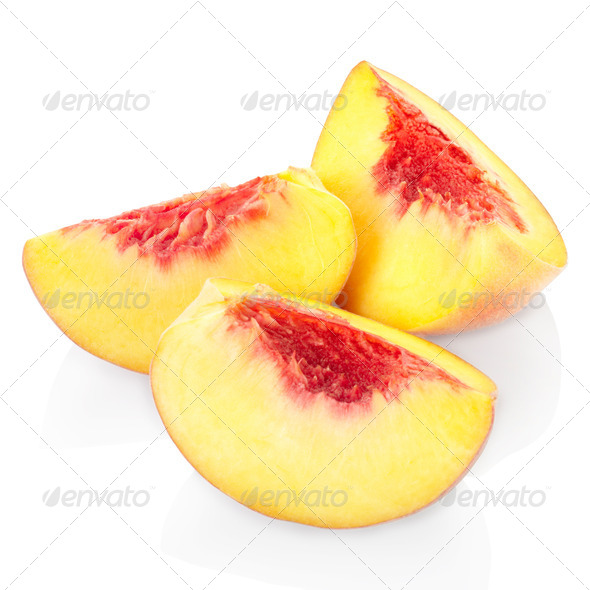 Peach slices - Stock Photo - Images