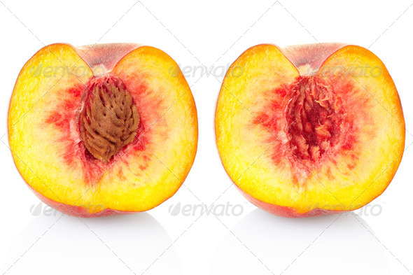 Peach fruit section - Stock Photo - Images