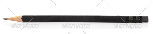 Black pencil  - Stock Photo - Images