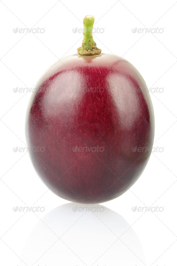 Red grape berry  - Stock Photo - Images