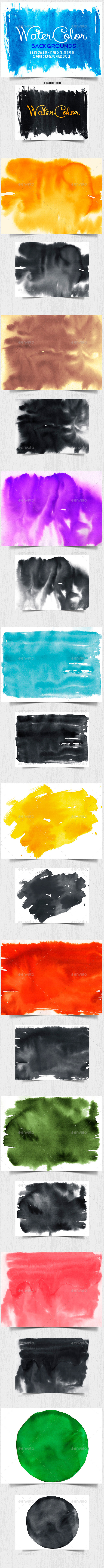 Watercolor Backgrounds 2 - Backgrounds Graphics