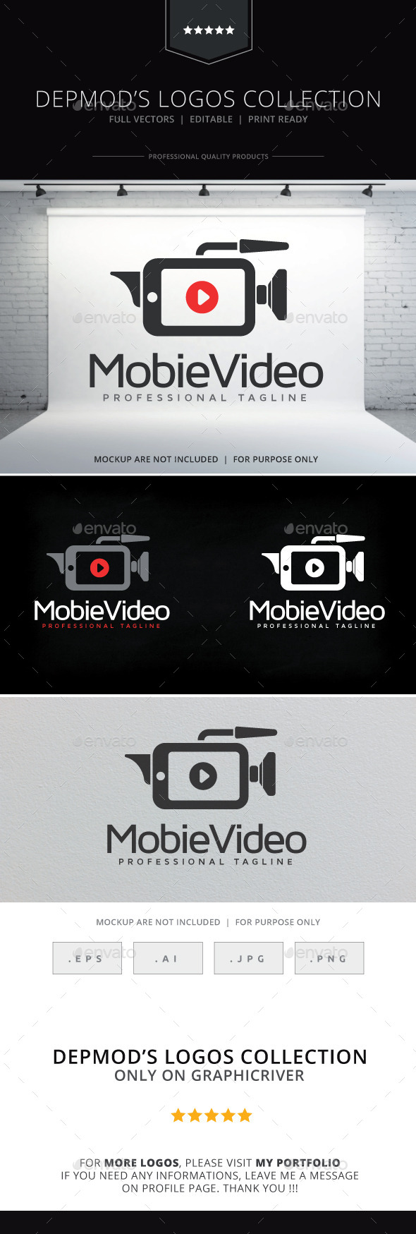 Mobile Video Logo - Symbols Logo Templates