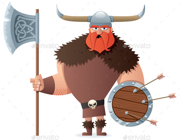 Viking on White - People Characters