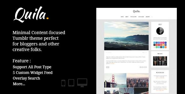 Quila | Clean Content-Focused Tumblr Theme