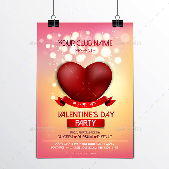 Valentines Day Brochure - Valentines Seasons/Holidays