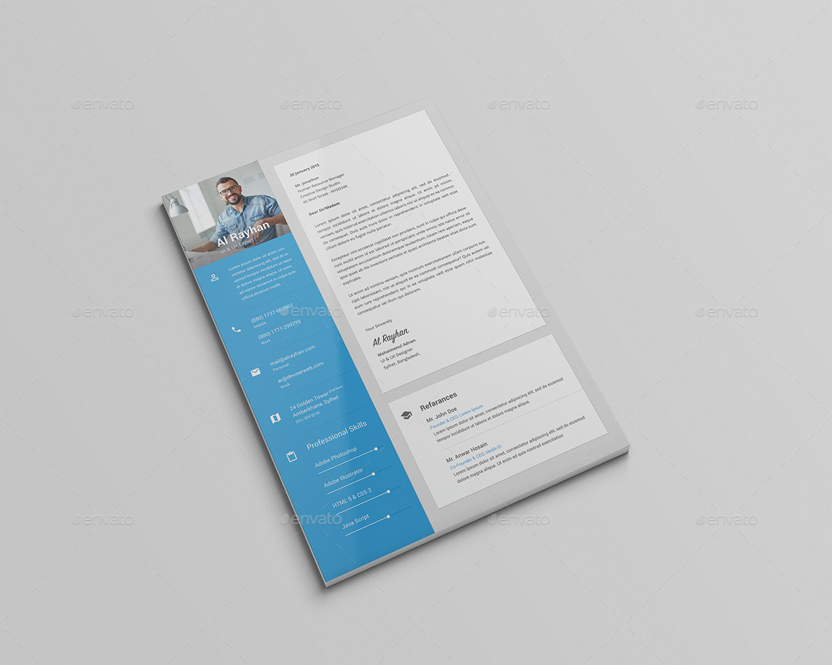 Material Cv Resume By Rtralrayhan Graphicriver