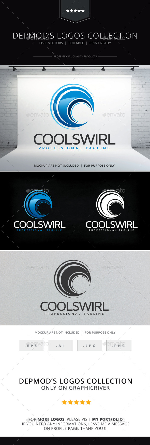 Cool Swirl Logo - Abstract Logo Templates