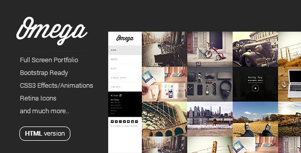 Omega – Full Width HTML Portfolio