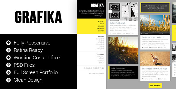 Grafika - Photography & Blog HTML Template