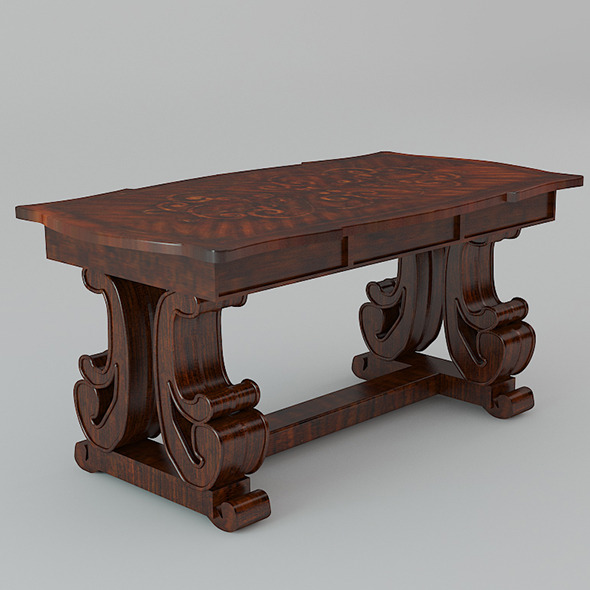 Classic Wooden Desk - 3DOcean Item for Sale