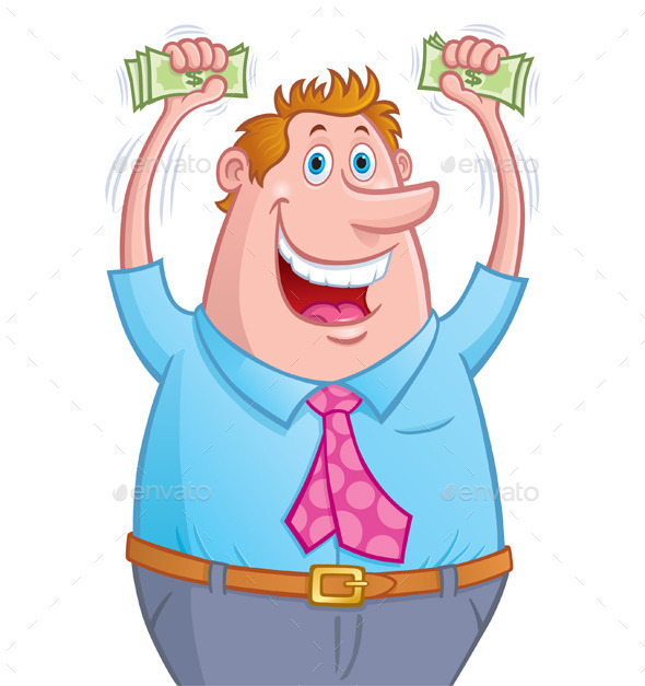 Excited Man with Money - Business Conceptual