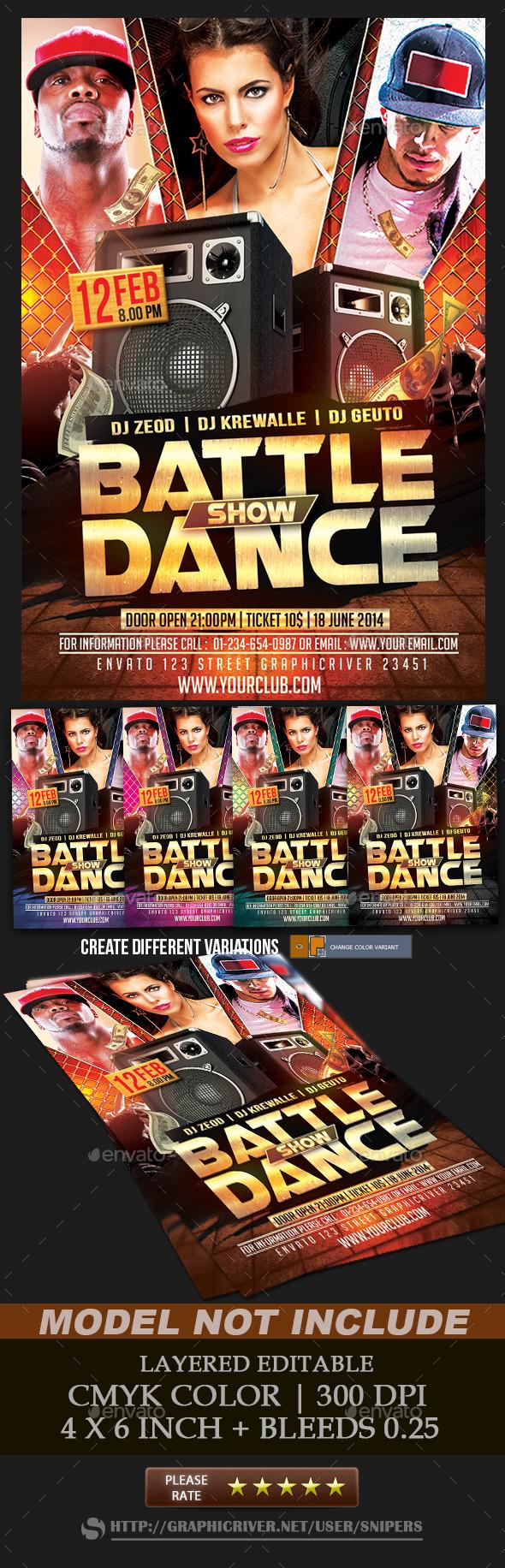 Battle Show Dance - Events Flyers