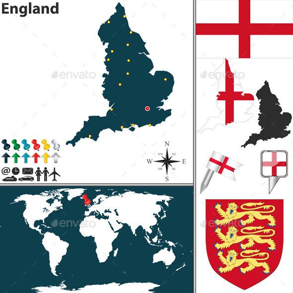 Map of England - Travel Conceptual