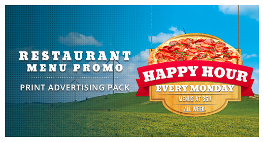 Restaurant Menu Promotion Print Pack