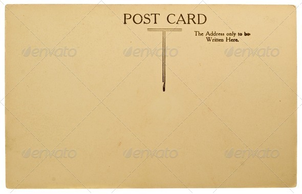 Blank Postcard - Stock Photo - Images