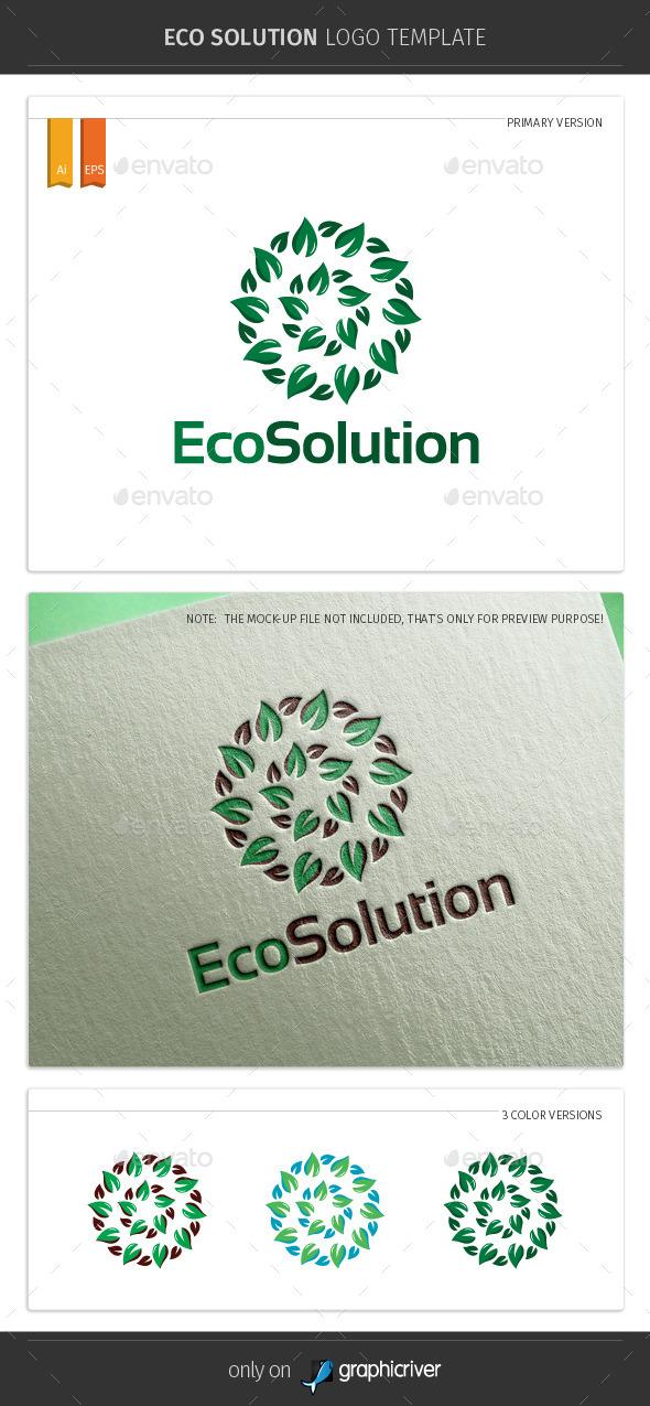 Eco Solution Logo Template - Symbols Logo Templates