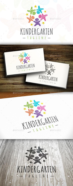 Kindergarten Logo - Humans Logo Templates