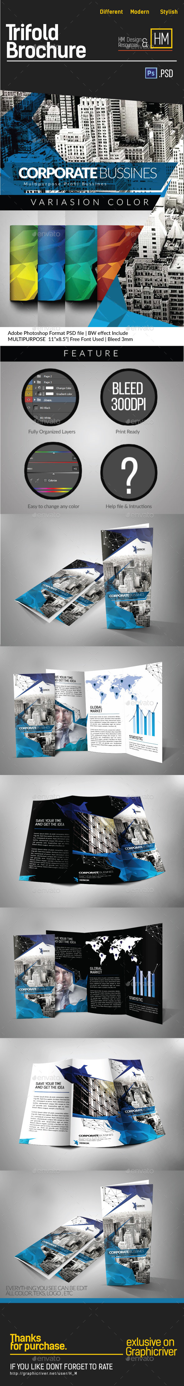 Modern Architecture Tri-fold Brochure - Corporate Brochures