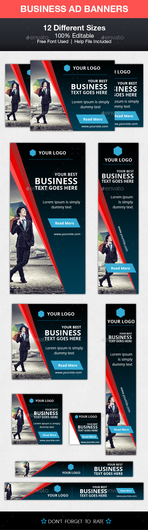 Business Advert Banners - Banners & Ads Web Elements