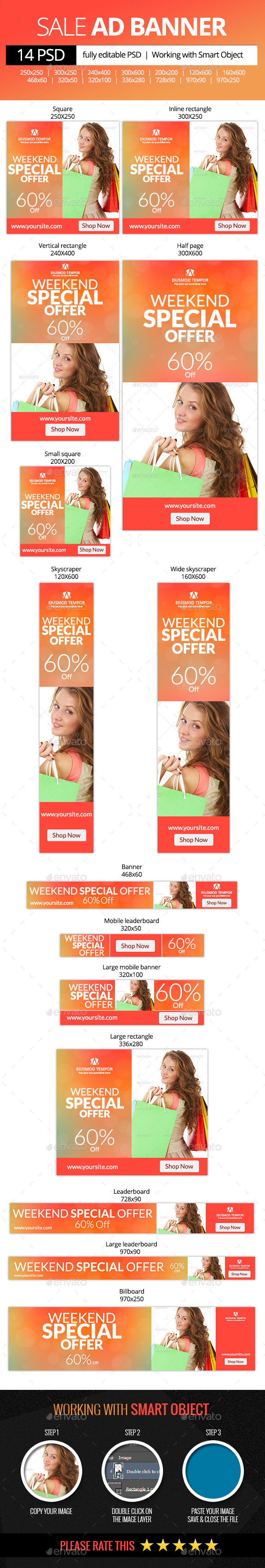 Weekend Special Offer Web Banners - Banners & Ads Web Elements