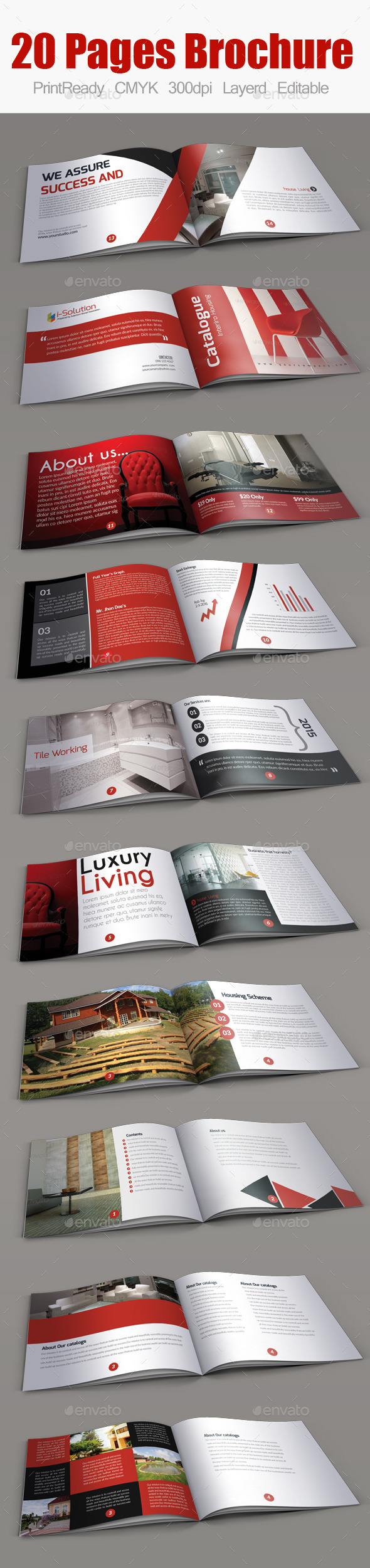 Real Estate Minimal Square Brochure - Corporate Brochures